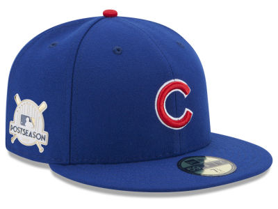 Chicago Cubs New Era 2017 MLB Post Season Authentic Collection Patch 59Fifty Cap
