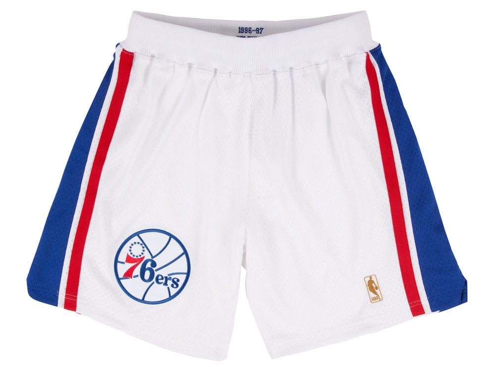 1abcab5c7 Philadelphia 76ers Mitchell   Ness NBA Men s Authentic NBA Shorts ...