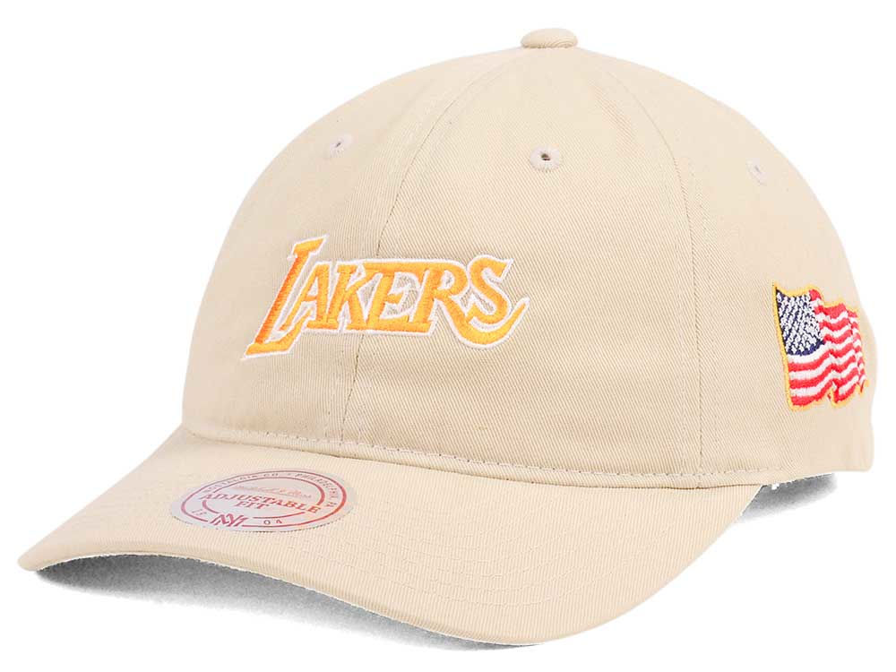 ... free shipping los angeles lakers mitchell ness nba x made in america  dad hat cb5cf 40a3a 297787c74d7a