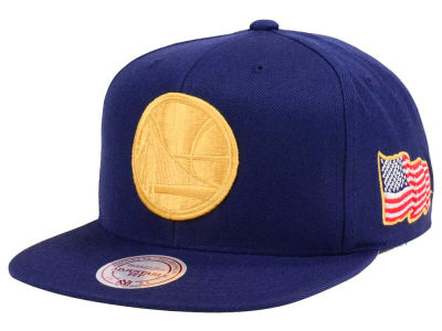 Golden State Warriors Mitchell & Ness NBA X Made In America Snapback Cap