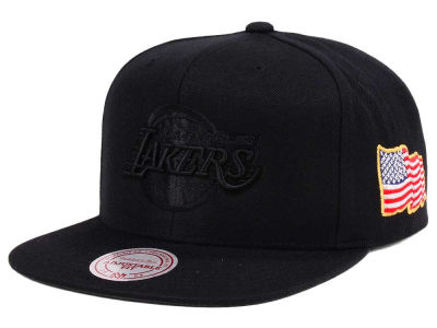 Los Angeles Lakers Mitchell & Ness NBA X Made In America Snapback Cap