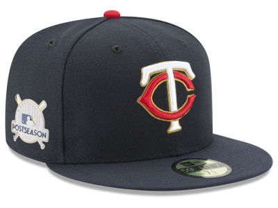 Minnesota Twins New Era 2017 MLB Post Season Authentic Collection Patch 59Fifty Cap