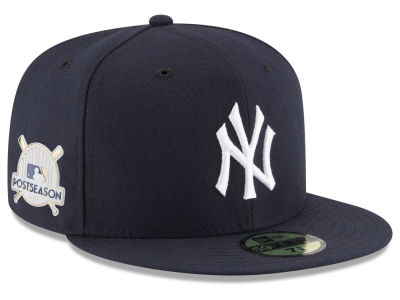 New York Yankees New Era 2017 MLB Post Season Authentic Collection Patch 59Fifty Cap