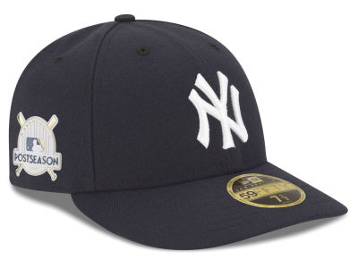 New York Yankees New Era 2017 MLB Post Season Low Profile Patch 59Fifty Cap