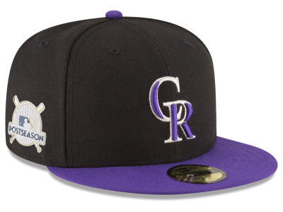 Colorado Rockies New Era 2017 MLB Post Season Authentic Collection Patch 59Fifty Cap