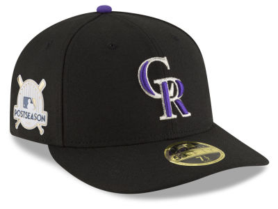Colorado Rockies New Era 2017 MLB Post Season Low Profile Patch 59Fifty Cap