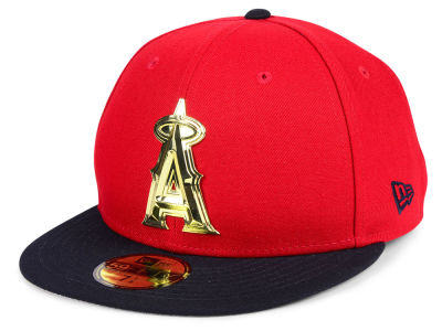 Los Angeles Angels New Era MLB Golden Finish 59FIFTY Cap