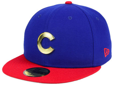 Chicago Cubs New Era MLB Golden Finish 59FIFTY Cap