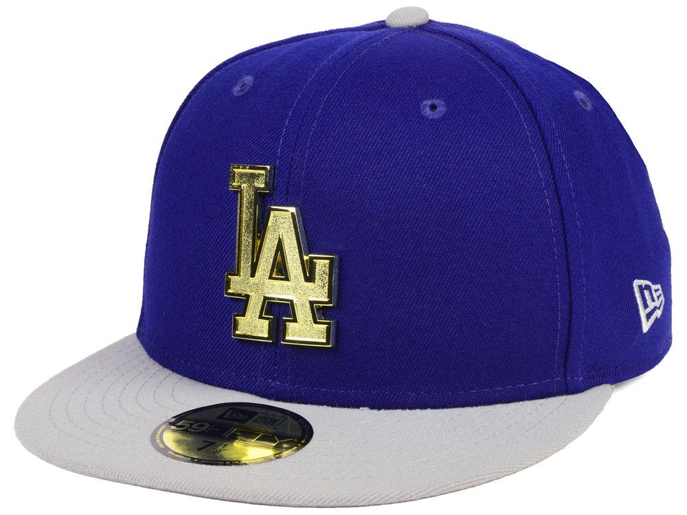 5ea931cb73e Los Angeles Dodgers New Era MLB Golden Finish 59FIFTY Cap