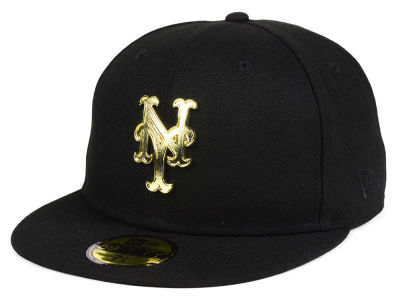 New York Mets New Era MLB Golden Finish 59FIFTY Cap