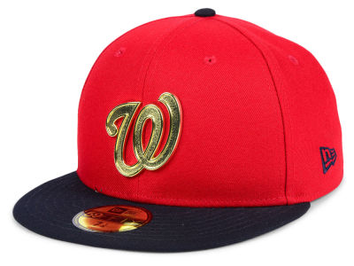 Washington Nationals New Era MLB Golden Finish 59FIFTY Cap