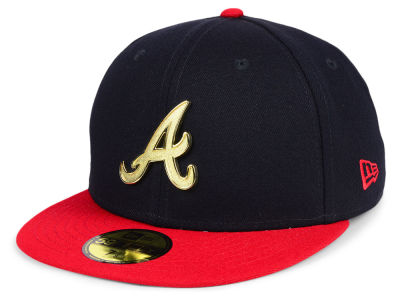 Atlanta Braves New Era MLB Golden Finish 59FIFTY Cap