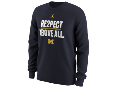 Michigan Wolverines Nike NCAA Men's Re2pect Above All Long Sleeve T-Shirt