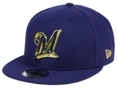 Milwaukee Brewers New Era MLB Metal Framed 9FIFTY Snapback Cap
