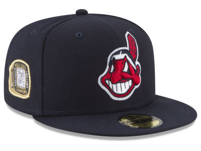 Cleveland Indians New Era MLB Title Trim 59FIFTY Cap