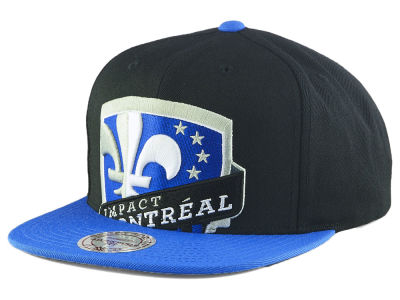 Montreal Impact Mitchell & Ness MLS Cropped XL Logo 2 Tone Snapback Cap