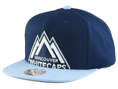 Vancouver Whitecaps FC Mitchell & Ness MLS Cropped XL Logo 2 Tone Snapback Cap