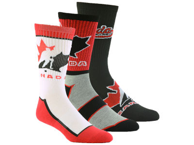 Canada Hockey Crew Socks - 3pk