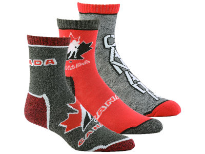 Canada Hockey Quarter Socks - 3pk