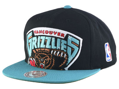 Vancouver Grizzlies Mitchell & Ness NBA Cropped Logo 2 Tone Snapback Cap