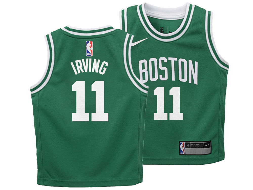 60c4fd8cd Boston Celtics Kyrie Irving Nike NBA Kids Icon Replica Jersey