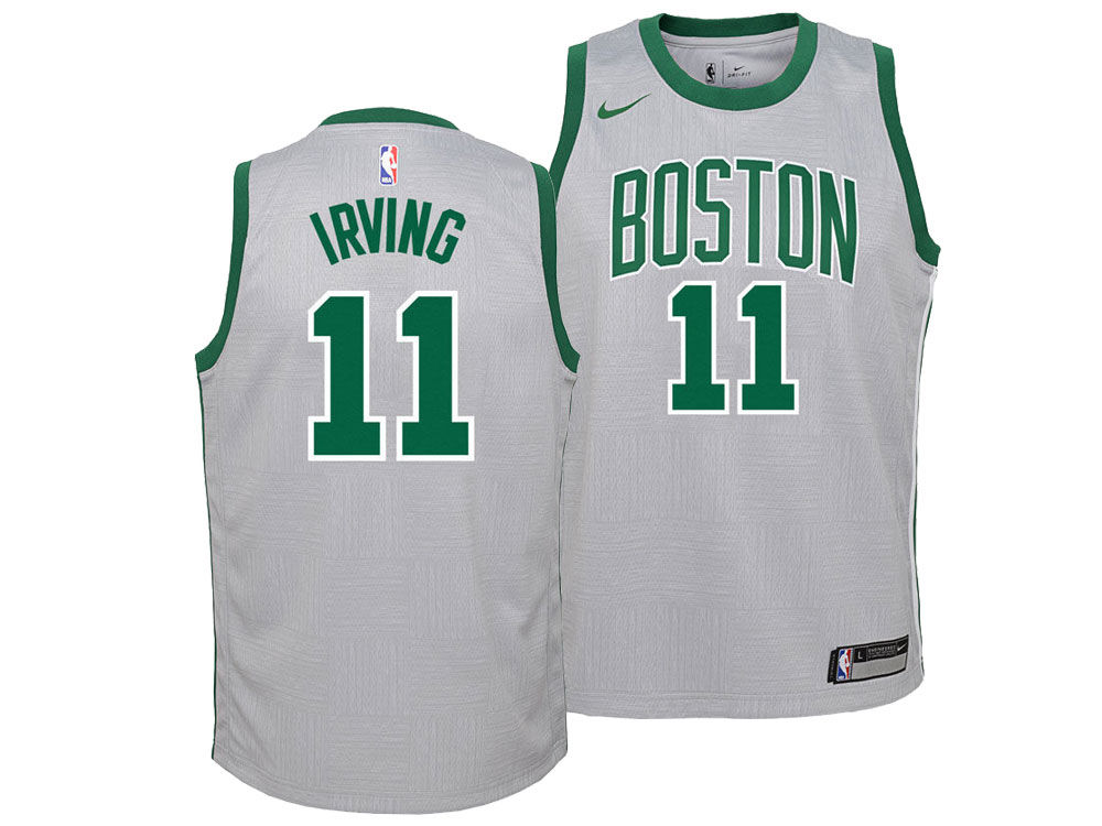 Boston Celtics Kyrie Irving Nike NBA Youth City Edition Swingman Jersey  229f82177