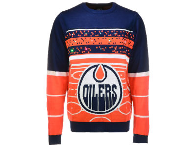 Edmonton Oilers Klew 2017 NHL Men's Light Up Ugly Sweater