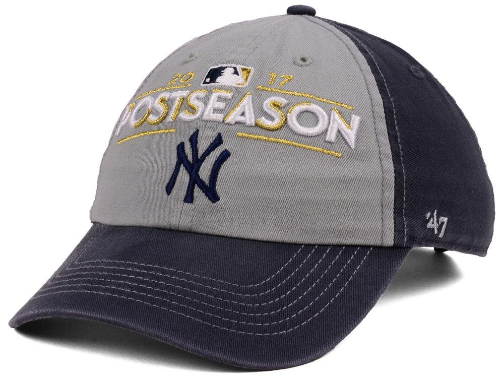 New York Yankees 47 2017 MLB Post Season Locker Room Cap
