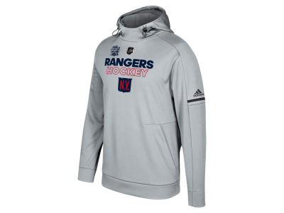 New York Rangers adidas 2018 NHL Men's Winter Classic Authentic Ice Fleece Hoodie