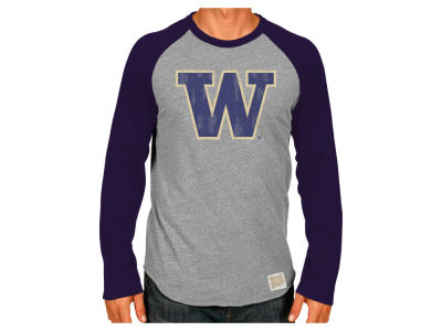 Washington Huskies Retro Brand NCAA Men's Team Logo Raglan T-shirt