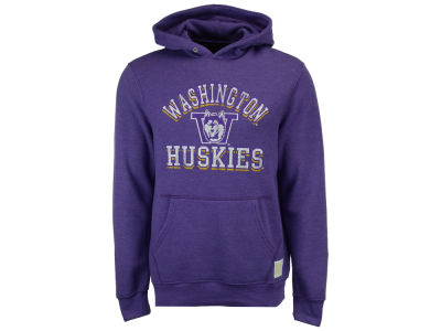 Washington Huskies Retro Brand NCAA Men's Tri-Blend Fleece Hoodie