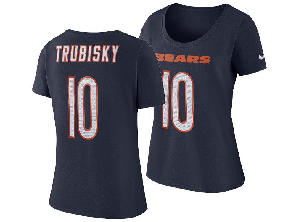 f9e53972b Chicago Bears Mitchell Trubisky Nike NFL Women s Player Pride T-Shirt