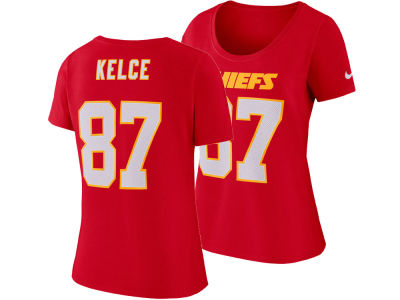 Kansas City Chiefs Travis Kelce Nike NFL Women's Player Pride T-Shirt