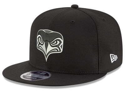Seattle Seahawks New Era NFL Black & White Alternate 9FIFTY Snapback Cap
