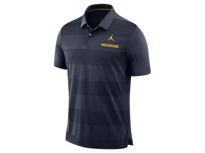 Michigan Wolverines Jordan NCAA Men's Early Season Coaches Polo