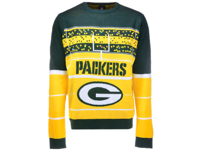 Green Bay Packers Klew 2017 NFL Men's Light Up Ugly Sweater