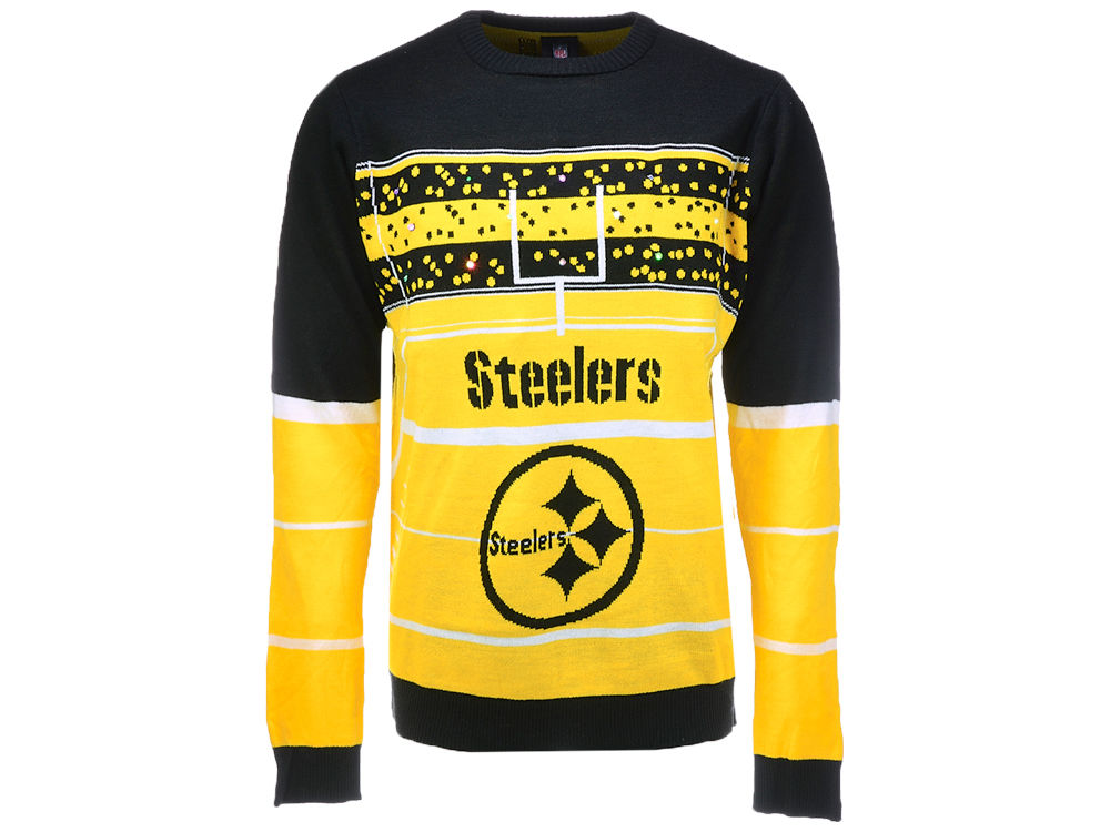 b49f57eb3 Pittsburgh Steelers Klew 2017 NFL Men s Light Up Ugly Sweater