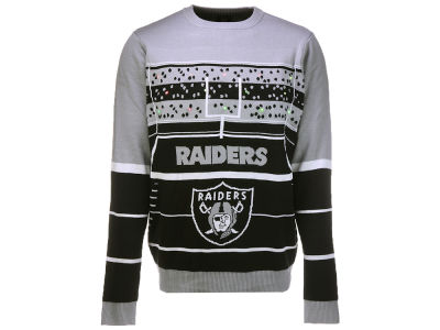 Oakland Raiders Klew 2017 NFL Men's Light Up Ugly Sweater