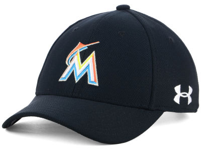 Miami Marlins Under Armour MLB Boy's Adjustable Blitzing Cap