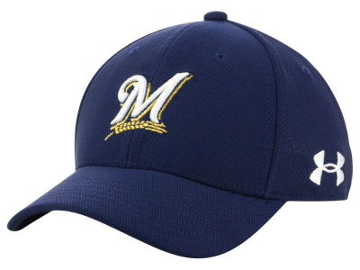 Milwaukee Brewers Under Armour MLB Boy's Adjustable Blitzing Cap