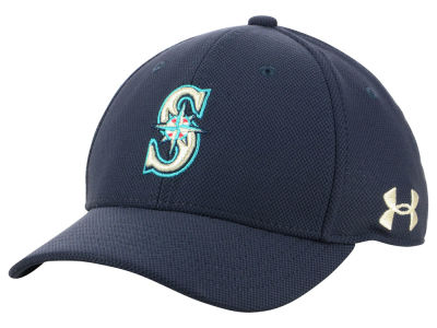 Seattle Mariners Under Armour MLB Boy's Adjustable Blitzing Cap