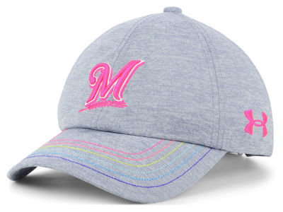Milwaukee Brewers Under Armour MLB Girls Renegade Twist Cap