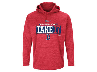 Boston Red Sox Majestic 2017 MLB Men's Postseason Ultra Fleece Hoodie