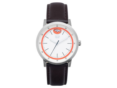 Denver Broncos Jack Mason Leather Strap Watch