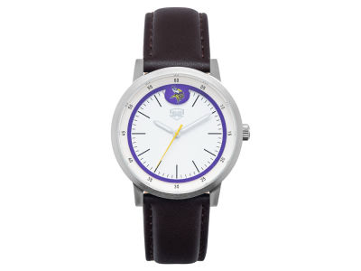 Minnesota Vikings Jack Mason Leather Strap Watch