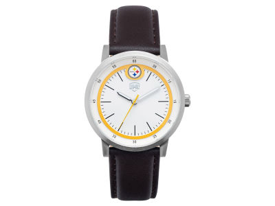 Pittsburgh Steelers Jack Mason Leather Strap Watch