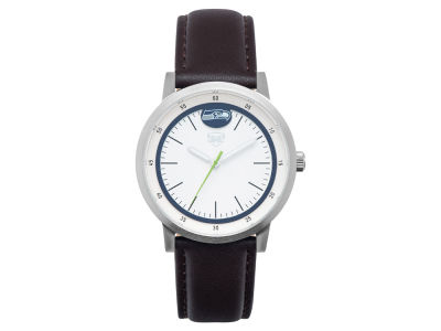 Seattle Seahawks Jack Mason Leather Strap Watch