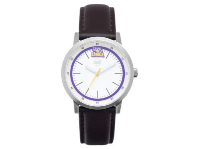 LSU Tigers Jack Mason Leather Strap Watch