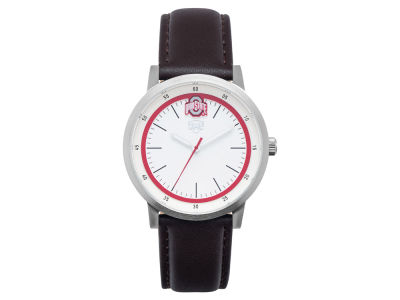 Ohio State Buckeyes Jack Mason Leather Strap Watch