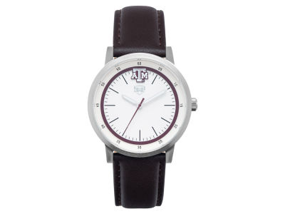 Texas A&M Aggies Jack Mason Leather Strap Watch